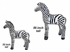 "Buy 56"" & 32"" H Inflatable Zebra animals zoo party cute jungle Teacher Gift"