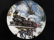 Buy Train Collector Plate Ted Xaras Winter Rails Winter Crossing Vintage