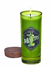 Buy :10636U - Mojito Scented Soy Blend Wax Candle Highball Green Glass