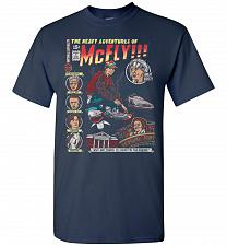 Buy Heavy Adventures Of McFly! Unisex T-Shirt Pop Culture Graphic Tee (4XL/Navy) Humor Fu