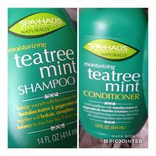 Buy Set of 2: Spa Haus Tea Tree Mint Shampoo & Hair Conditioner 14 oz