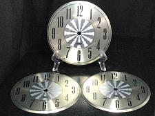 Buy LOT of 3 Vintage Clock Faces Telep Mantle Grandfather Wall Antique Repair