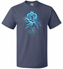 Buy Face of The Key Blade Unisex T-Shirt Pop Culture Graphic Tee (3XL/Denim) Humor Funny