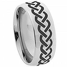 Buy coi Jewelry Titanium Dome Celtic Wedding Band Ring