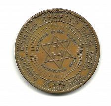 Buy MASON PENNY RARE St Catharines Canada Freemason Coin Inst 1861 Chapter 19