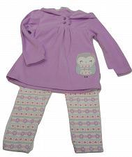 Buy Legging Hoodie Set Toddler Girl Purple Owl Size 24M Fleece Long Sleeves