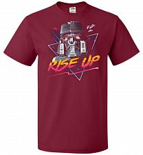 Buy Rise Up Unisex T-Shirt Pop Culture Graphic Tee (6XL/Cardinal) Humor Funny Nerdy Geeky