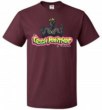 Buy Fresh Panther Unisex T-Shirt Pop Culture Graphic Tee (5XL/Maroon) Humor Funny Nerdy G