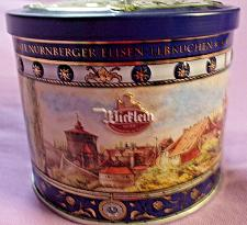 Buy German Cookie/Candy Tin Beautiful Design of Germany Wicklein 3 1/2 x 4 1/4