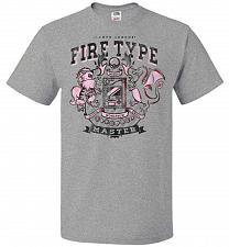 Buy Fire Type Champ Pokemon Unisex T-Shirt Pop Culture Graphic Tee (M/Athletic Heather) H