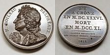 Buy 1817 French Poet N Boileau Despreaux (1636-1711) PL Bronze Medal by Caunois F.