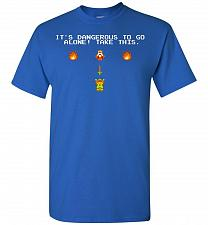 Buy It's Dangerous To Go Alone! Classic Zelda Unisex T-Shirt Pop Culture Graphic Tee (XL/