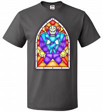 Buy Apocolypse Stained Glass Unisex T-Shirt Pop Culture Graphic Tee (S/Charcoal Grey) Hum