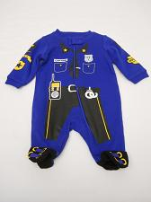 Buy Infant Baby Boy One Piece Play Romper Blue Size Newborn Footed Police