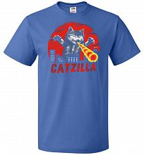 Buy Catzilla Unisex T-Shirt Pop Culture Graphic Tee (2XL/Royal) Humor Funny Nerdy Geeky S
