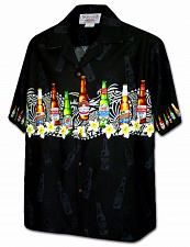 Buy Men's Border Design Hawaiian Shirt Island Cold One #440-3946