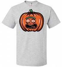 Buy Halloween Pumpkin Rick Adult Unisex T-Shirt Pop Culture Graphic Tee (4XL/Ash) Humor F