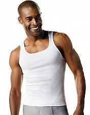 Buy 12 Hanes Men's TAGLESS ComfortSoft White A-Shirt Tank #372AP6 100% cotton S-XL