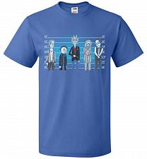 Buy Rick and Morty Unusual Suspects Unisex T-Shirt Pop Culture Graphic Tee (5XL/Royal) Hu
