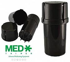 Buy FOUR of BLACK MEDTAINER Storage Containers w/ Built-In Grinder Air & Water Tight