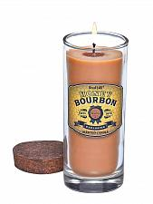 Buy :10635U - Honey Bourbon Scented Soy Blend Wax Candle Highball Clear Glass