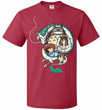 Buy Ghibli Unisex T-Shirt Pop Culture Graphic Tee (M/True Red) Humor Funny Nerdy Geeky Sh