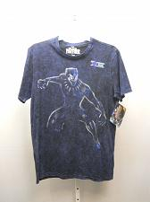 Buy MARVEL BLACK PANTHER Mens Graphic T-Shirt Size L 42-44 Navy Short Sleeve