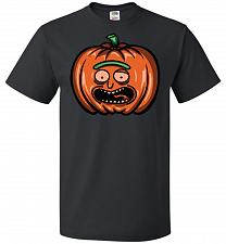 Buy Halloween Pumpkin Rick Adult Unisex T-Shirt Pop Culture Graphic Tee (4XL/Black) Humor