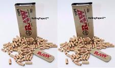 "Buy 200 Tips RAW Pre Rolled TIPS IN 2 KING SIZE Slide Top Storage TINS ""RAWthentic"""