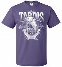 Buy Anywhere and Everywhere Tardis Unisex T-Shirt Pop Culture Graphic Tee (XL/Purple) Hum