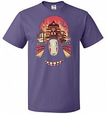 Buy Welcome to the Magical Bathhouse Unisex T-Shirt Pop Culture Graphic Tee (L/Purple) Hu