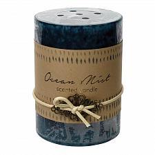 Buy :10924U - 2ct Ocean Mist Scented Tri-color Blue Pillar Candle 3x4