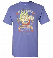 Buy Crazy Rick's Schwifty Ale Unisex T-Shirt Pop Culture Graphic Tee (3XL/Violet) Humor F
