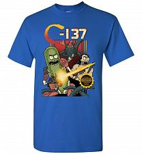 Buy C-137 Schwifty Squad Unisex T-Shirt Pop Culture Graphic Tee (XL/Royal) Humor Funny Ne