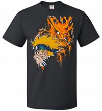 Buy Demon Fox Unisex T-Shirt Pop Culture Graphic Tee (5XL/Black) Humor Funny Nerdy Geeky