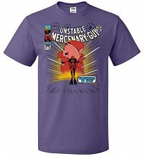 Buy Unstable Mercenary Guy Unisex T-Shirt Pop Culture Graphic Tee (L/Purple) Humor Funny