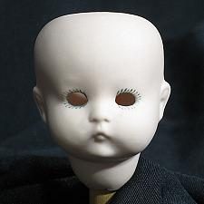 """Buy Vintage Bisque Porcelain Doll Head Germany 310 AOM Baby Child 2"""" tall NOS"""