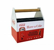 Buy :10596U - Coke Coca-Cola Steel Utensil Holder Caddy Organizer Wood Handle