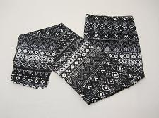 Buy Women Leggings Black Tribal Print Seamless Ankle SIZE XL Mid Rise Inseam 29
