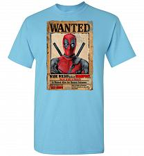 Buy Deadpool Wanted Poster Unisex T-Shirt Pop Culture Graphic Tee (XL/Sky) Humor Funny Ne