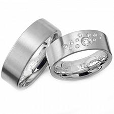 Buy coi Jewelry Titanium Couple Wedding Band Ring - JT1268(Size US7)