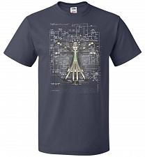 Buy Vitruvian Rick Unisex T-Shirt Pop Culture Graphic Tee (3XL/J Navy) Humor Funny Nerdy