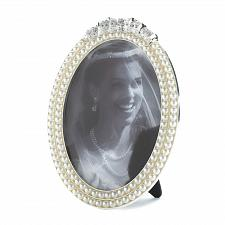 Buy *16932U - Strands Of Pearl Oval Photo Frame Holds 5x7