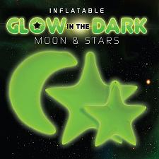 Buy 2pcs Inflatable Glow in the dark moon star room
