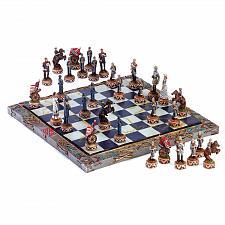 "Buy 34736U - Civil War Detailed 14 5/8"" Resin Board Chess Set"