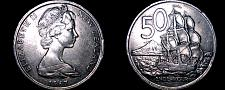 Buy 1967 New Zealand 50 Cents World Coin - Elizabeth II - Endeavour
