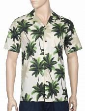 Buy Men's Big Palms Aloha Shirt #RJ-102C-1118