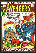 Buy AVENGERS #93 NEAL ADAMS 1971 Dbl-szd Roy Thomas Marvel Comics 1st Series & Print