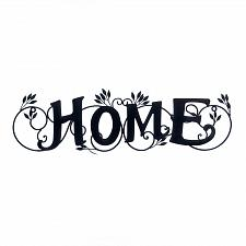 Buy *17915U - Home Black Iron Wall Art Plaque