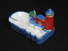 Buy Porcelain Lighthouse House Figural Ashtray Snuffer Vintage Japan